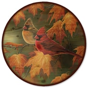 WGI GALLERY Maple Leaves and Cardinals Lazy Susan