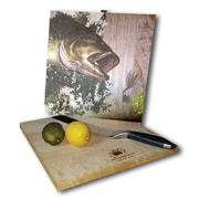 WGI GALLERY Bass 12'' x 12'' Cutting Board