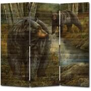 WGI GALLERY 68'' x 68'' Birchwood Bears 3 Panel Room Divider