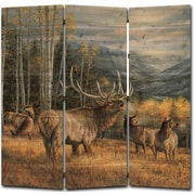 WGI GALLERY 68'' x 68'' Meadow Music Elk 3 Panel Room Divider
