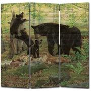 WGI GALLERY 68'' x 68'' Playtime Bears 3 Panel Room Divider
