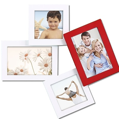 AdecoTrading 4 Opening Decorative Tumbling Wall Hanging Picture Frame