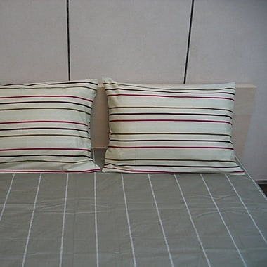 DaDa Bedding Stripe 200 Thread Count CottonSheet Set; Queen
