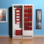 Sorbus 3 Piece Closet Organizer Set; Red
