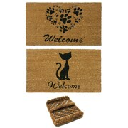 Rubber-Cal, Inc. 3 Piece Animals Doormat Set (Set of 3)