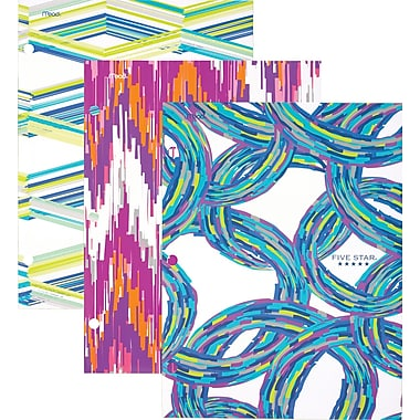 Five StarMD – Porte-documents à 4 pochettes, Sketchy, motifs variés