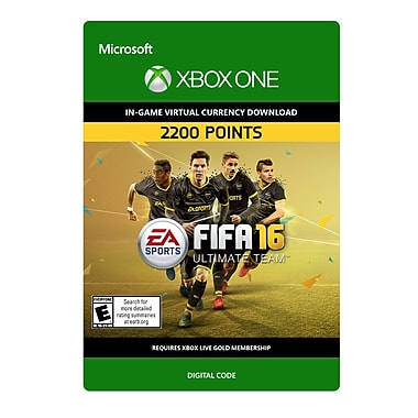Electronic Arts – FIFA 16 Ultimate Team 2200 points, Xbox One [Téléchargement]