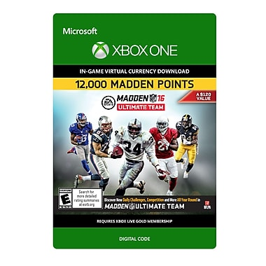 Electronic Arts – Madden NFL 16 12 000 points, Xbox One [Téléchargement]