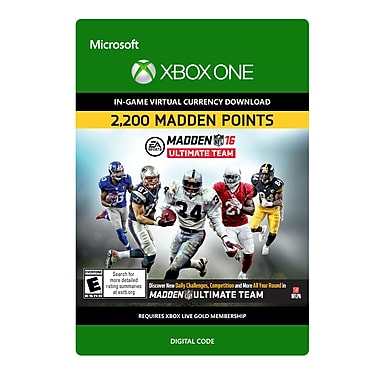 Electronic Arts – Madden NFL 16 2200 points, Xbox One [Téléchargement]