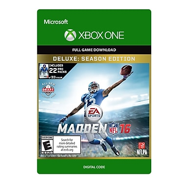 Electronic Arts Madden NFL 16 Deluxe Edition, Xbox One [Download]