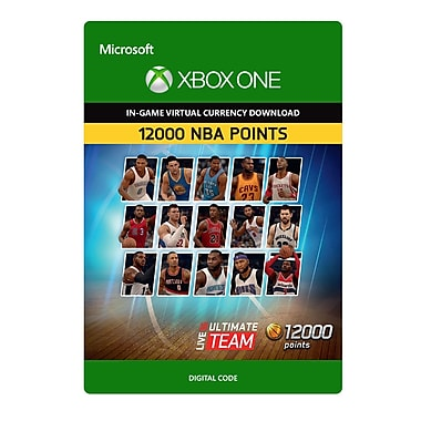 Electronic Arts NBA Live 16 LUT 12,000 NBA Points Pack, Xbox One [Download]