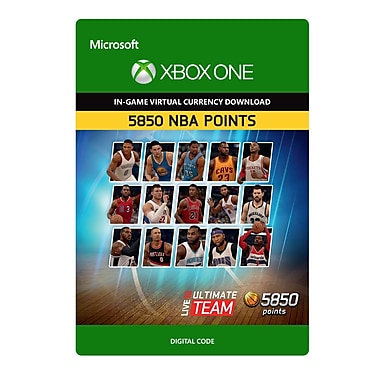 Electronic Arts NBA Live 16 LUT 5,850 NBA Points Pack, Xbox One [Download]
