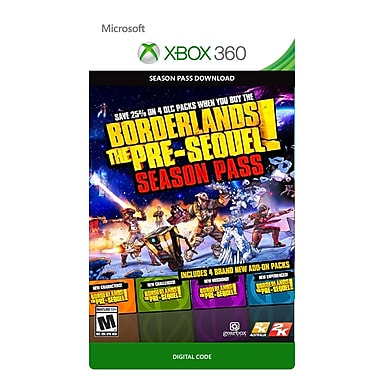 Take-Two Borderlands: The Pre-Sequel - Season Pass, Xbox 360 [Download]