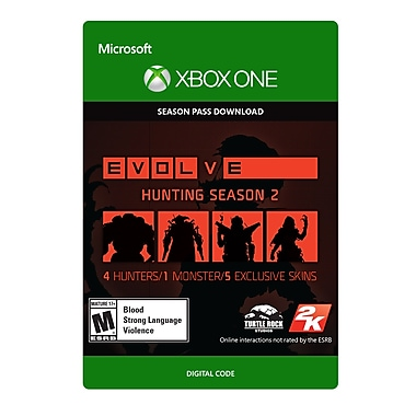 Take-Two Evolve Hunting Season 2 Season Pass, Xbox One [Download]
