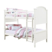 Dorel Living Twin over Twin Wood Bunk Bed, White