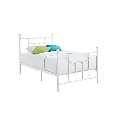 DHP Manila Metal Bed, Twin, White