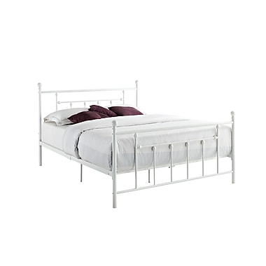DHP Manila Metal Bed, Full, White