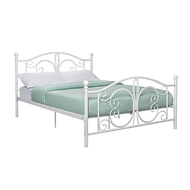 DHP Bombay Metal Bed, Full, White