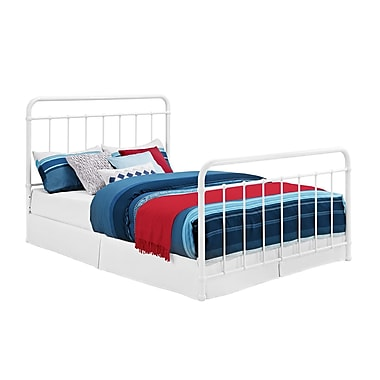DHP Brooklyn Iron Metal Bed, Full, White