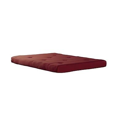 DHP – Matelas de futon 6 po, rouge