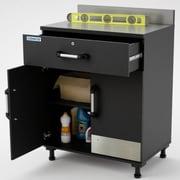 Cosco – Base de garage armoire de rangement à 2 portes et 1 tiroir pour garage, gris acier