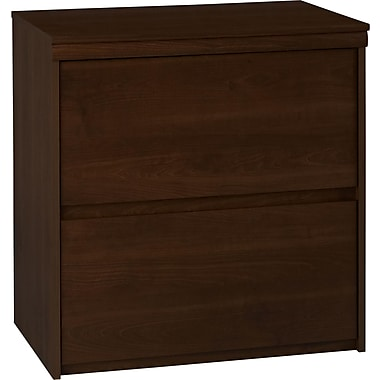Dorel Presley Lateral File Cabinet, Resort Cherry