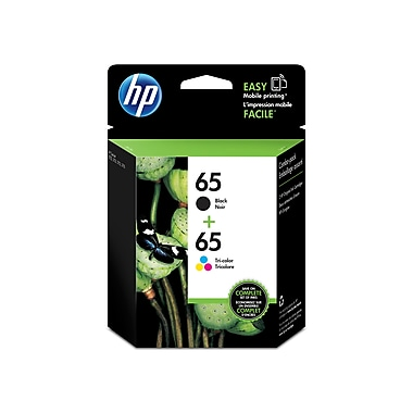 HP 65 Black & Tri-Colour Original Ink Cartridges, 2/Pack (T0A36AN)