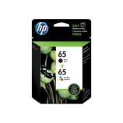HP 65 Ens. 2cartouches d'encre noire et tricolore d'origine (T0A36AN)