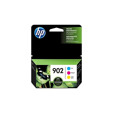 HP 902 Cyan, Magenta & Yellow Original Ink Cartridges, 3/Pack (T0A38AN)