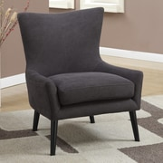 A&J Homes Studio High Back Arm Chair; Charcoal Denim
