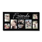 AdecoTrading 8 Opening Decorative ''Friends'' Wall Hanging Collage Picture Frame