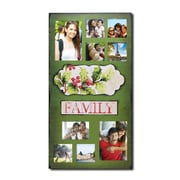 AdecoTrading 9 Opening Decorative Christmas Holiday ''Family'' Wall Hanging Collage Picture Frame