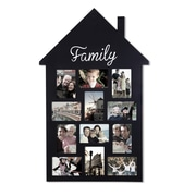 AdecoTrading 12 Opening House Shape ''Family'' Wall Hanging Picture Frame