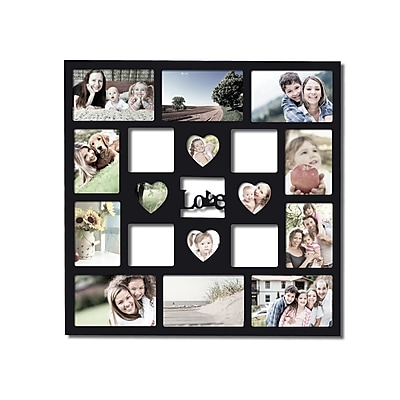 AdecoTrading 14 Opening Decorative ''Love'' Wall Hanging Collage Picture Frame WYF078278646065