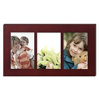 AdecoTrading 3 Opening Hanging Collage Picture Frame; Walnut