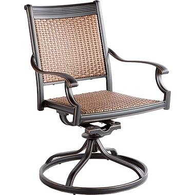 Alfresco Home Pilot Swivel Patio Dining Chair (Set of 2)