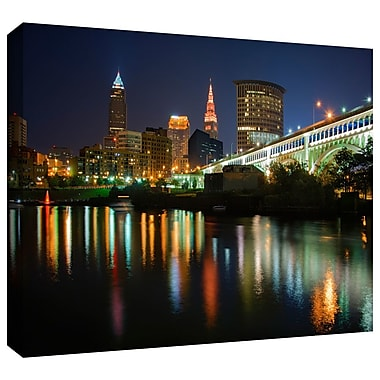 ArtWall Cleveland' by Antonio Raggio Photographic Print on Wrapped Canvas; 12'' H x 18'' W