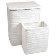 Redmon for Kids Chelsea Nursery Laundry Hamper and Waste Basket Set; White