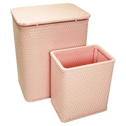 Redmon for Kids Chelsea Nursery Laundry Hamper and Waste Basket Set; Crystal Pink