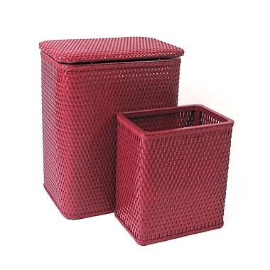 Redmon for Kids Chelsea Nursery Laundry Hamper and Waste Basket Set; Raspberry
