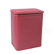 Redmon for Kids Chelsea Pattern Laundry Hamper; Raspberry