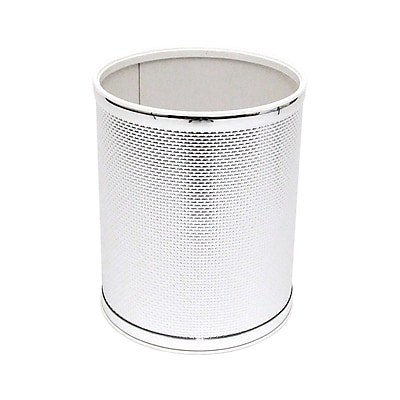 Redmon Bath Jewelry 2 Gallon Waste Basket; Silver with Chrome Trim