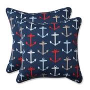 Pillow Perfect Anchor Allover Indoor/Outdoor Throw Pillow (Set of 2)