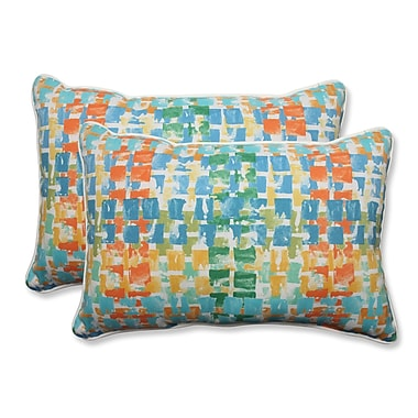 Pillow Perfect Quibble Sunsplash Indoor/Outdoor Throw Pillow (Set of 2)
