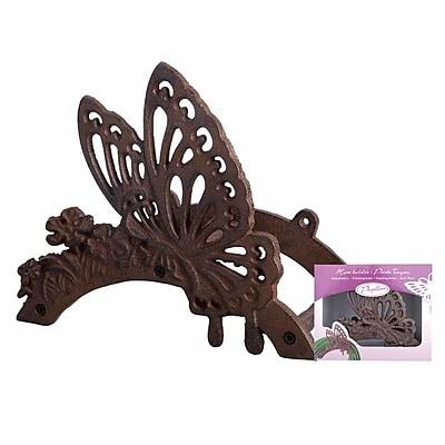EsschertDesign Miscellaneous Butterfly Iron Wall Mounted Hose Holder WYF078278624580