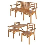 EsschertDesign My Balconia Convertible Wooden Chat Bench