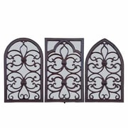 EsschertDesign Cast Iron Window Frame w/ Mirror (Set of 3)