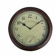 EsschertDesign World of Weather 12'' Clock and Thermometer