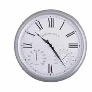 EsschertDesign World of Weather 15'' Roman Numerals Outdoor Clock