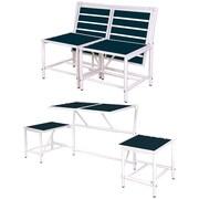 EsschertDesign My Balconia Convertible Bench; Blue